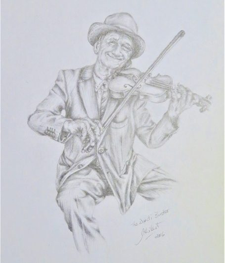 The Fiddler - a sketch by Julie-Anne Rogers