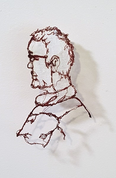Portrait machine embroidery
